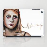 tenenbaum iPad Cases featuring Margot Tenenbaum  by Bella Harris