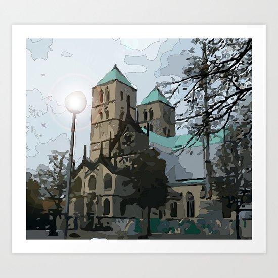 Old Church  Art Print