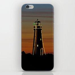 Sunset at Walton Lighthouse Santa Cruz CA iPhone Skin