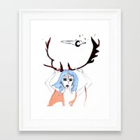 halo Framed Art Prints featuring Halo by lesinfin