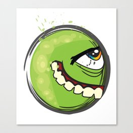 Green Freak Canvas Print