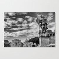 rome Canvas Prints featuring Rome by unaciertamirada