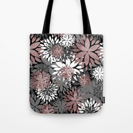 Pretty rose gold floral illustration pattern Tote Bag