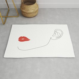 Red lip Rug