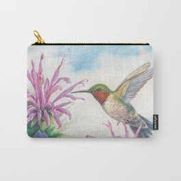 Hummingbird and Bergamot Carry-All Pouch