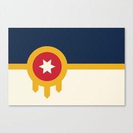Tulsa Flag Canvas Print