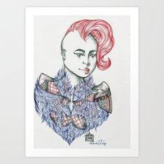 Raining Feathers  Art Print