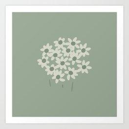 Garden Daisy in Sage Art Print
