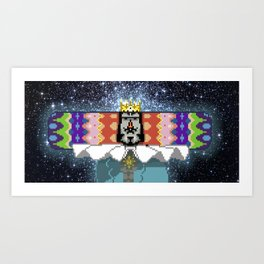 King of The Cosmos Art Print