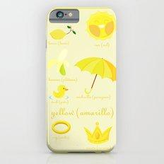 Colors: yellow (Los colores: amarillo) iPhone 6s Slim Case
