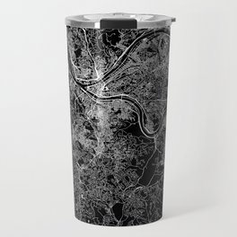 Pittsburgh Black Map Travel Mug