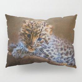 Cute painting amur leopard cub Pillow Sham