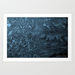 Winter Waves Art Print