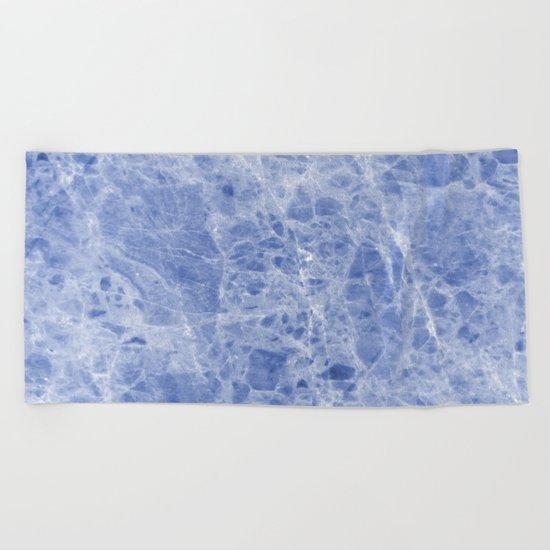 Juliette blue marble Beach Towel