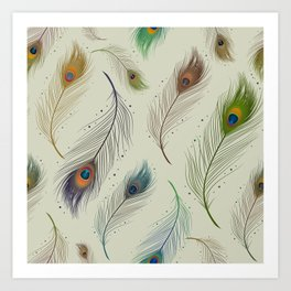 Peacock feather design Art Print