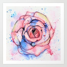 Colorful Rose Art Print