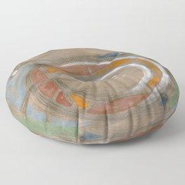 visual fragments Floor Pillow