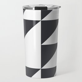 Black & White Geometry Travel Mug