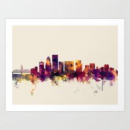 Portland Oregon Skyline Art Print