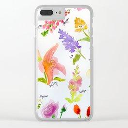 Cute Catalogue Clear iPhone Case
