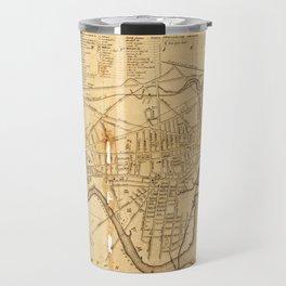 Map of Cambridge, Massachusetts (1857) Travel Mug