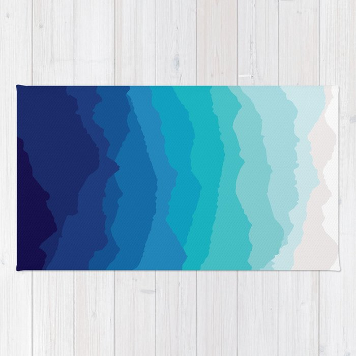 Blue Mist Mountains Rug