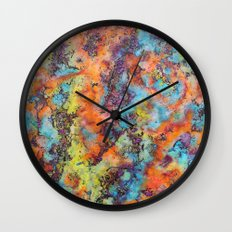 Playing colors Wall Clock