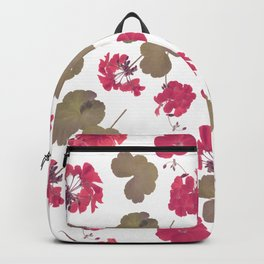seamless   pattern of geranium flowers . Endless texture Backpack