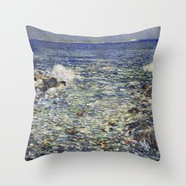 Childe Hassam Surf, Isles of Shoals Throw Pillow