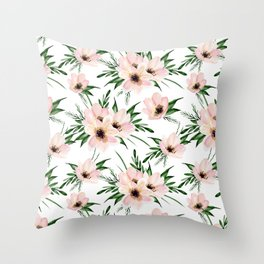 Pink bouquet. Watercolor Throw Pillow