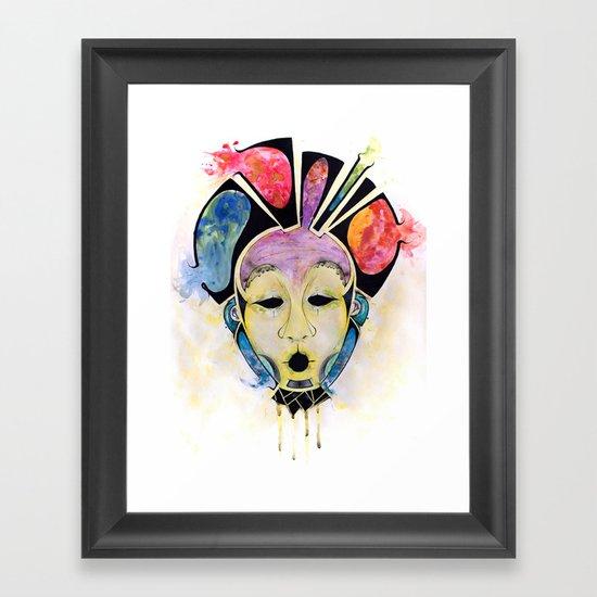 Veto's Mask Framed Art Print