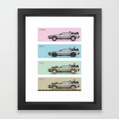 Back to the Future - Delorean x 4 Framed Art Print