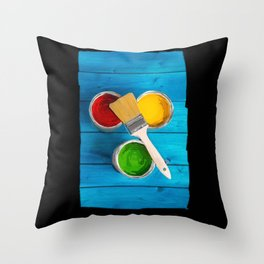 Paint and Brush - 236 Throw Pillow