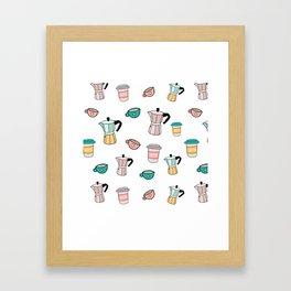Moka espresso coffee pot Framed Art Print
