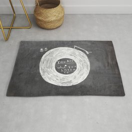 you are what you listen to, BLACK Rug