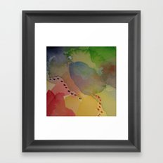 Watercolor Abstract Mini Series #2 Framed Art Print
