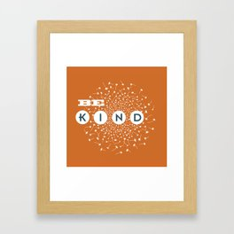 Be Kind (orange/blue) Framed Art Print