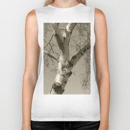 Birch tree #02 Biker Tank