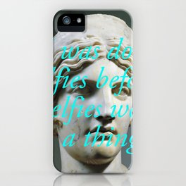 Lucia Selfie iPhone Case