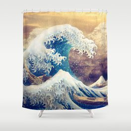 The Great Wave off Kanagawa Shower Curtain