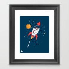 Bottle Rocket to the Milky Way Framed Art Print
