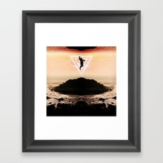 Icarus Falls Upward Framed Art Print