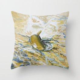 June's Digger Throw Pillow
