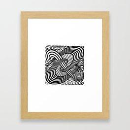 Art Nouveau Swirls in Black and White Framed Art Print