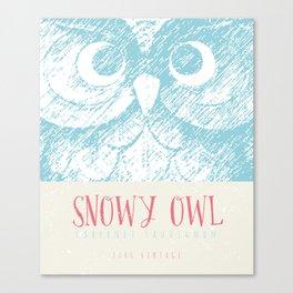 Wine Label - Snowy Owl Canvas Print