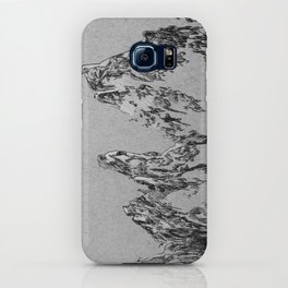 mountains (greyscale) iPhone Case