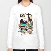 rio de janeiro Long Sleeve T-shirts featuring RIO DE JANEIRO by Valter Brum