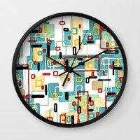 mod Wall Clocks featuring Mod by Tina Carroll