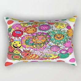 Circle of Circular Stuff Doodle Rectangular Pillow