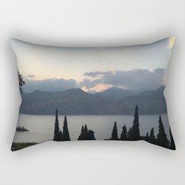 Lake Garda Lavender Hour Rectangular Pillow